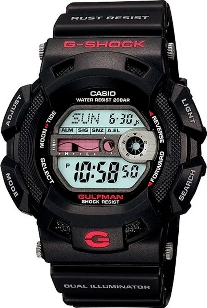 Relógio G-Shock Gulfman G-9100-1DR Titânio