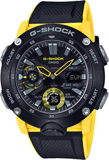 RELÓGIO G-SHOCK GA-2000-1A9DR Carbon Core Guard