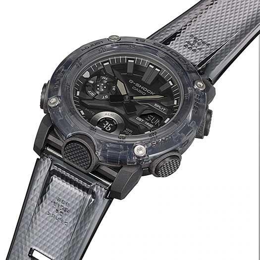 Relógio CASIO G-Shock GA-2000SKE-8ADR Série Transparent Pack *Carbon Core Guard
