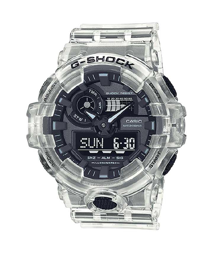 Relógio CASIO G-Shock GA-700SKE-7ADR Série Transparent Pack