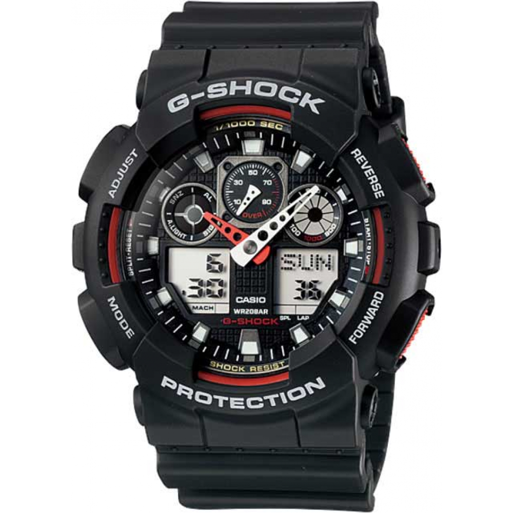 RELÓGIO G-SHOCK ANALOG DIGITAL GA-100-1A4DR