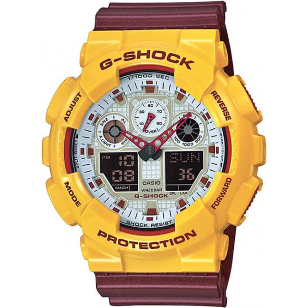 RELÓGIO G-SHOCK ANALOG DIGITAL GA-100CS-9ADR