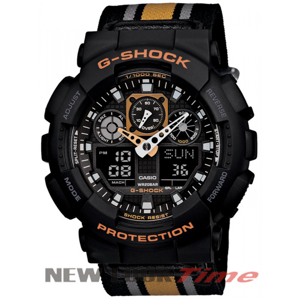 "Relógio CASIO G-Shock GA-100MC-1A4DR ""Three Eye"""