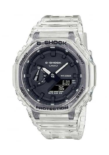 Relógio CASIO G-Shock GA-2100SKE-7ADR Série Transparent Pack *Carbon Core Guard