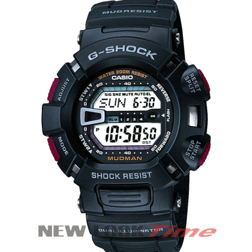 Relógio CASIO G-Shock G-9000-1VDR *Mudman Regular Black