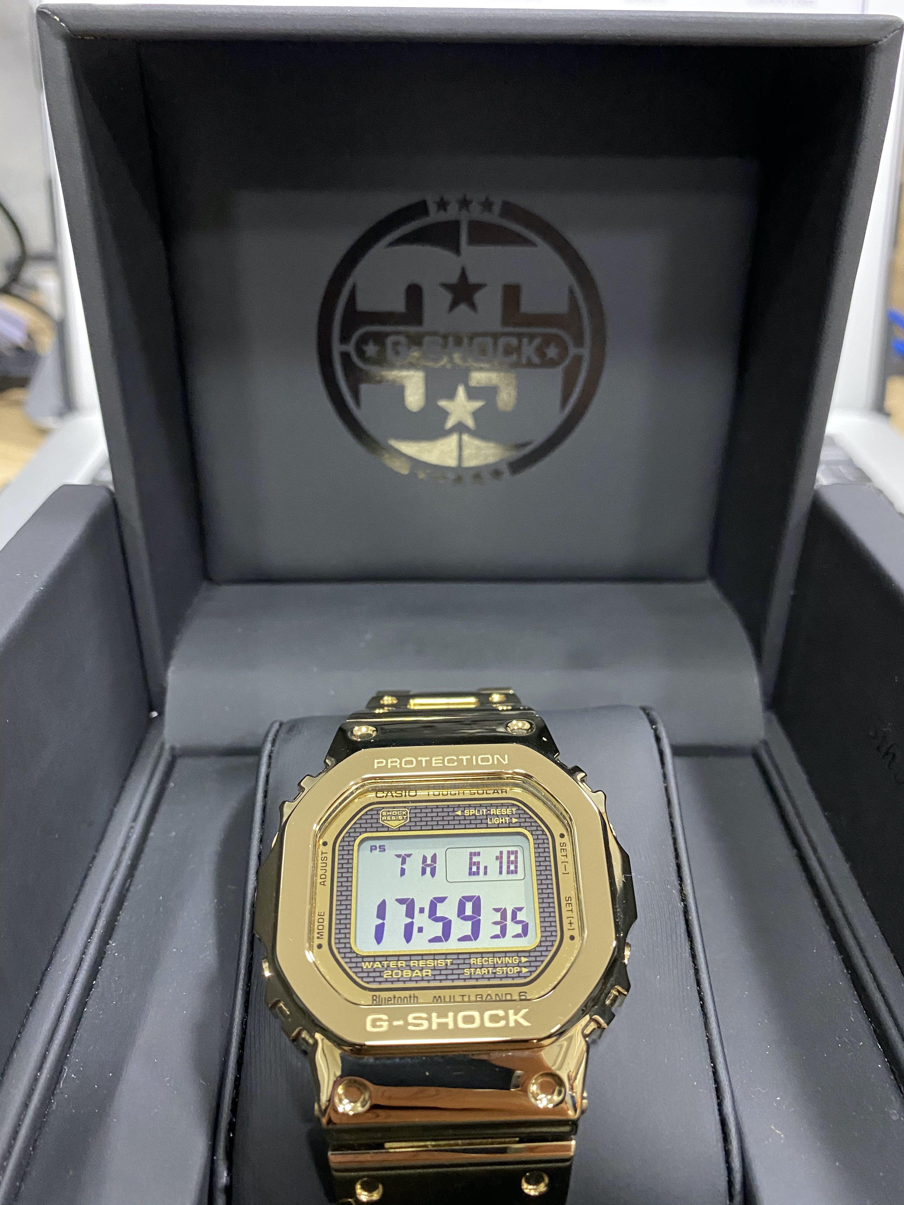 Relógio G-Shock GMW-B5000TFG-9DR *Full Metal *Solar *Bluetooth